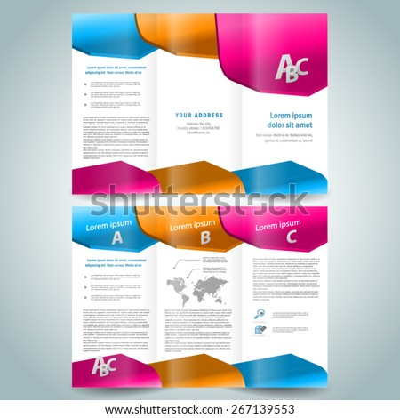 Three dimensional sample stock photos images pictures for 3d brochure template