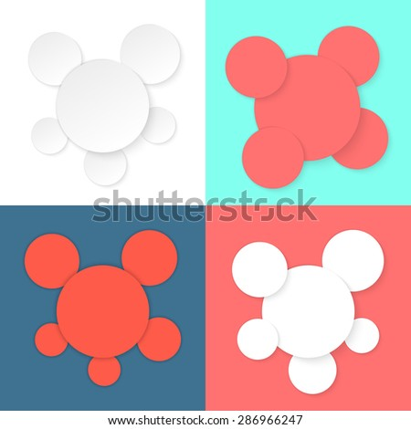 colored different circles template. concept of cover badge, copy space, diagram, data menu, poster card advertisement. flat style trend modern logo design eps10 vector illustration - stock vector