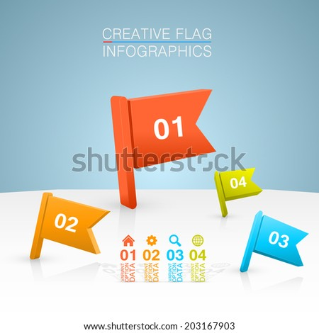 Colored flags on a white background. vector illustration - stock vector