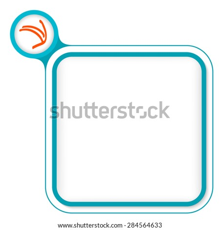 Colored frame for your text and pointer - stock vector