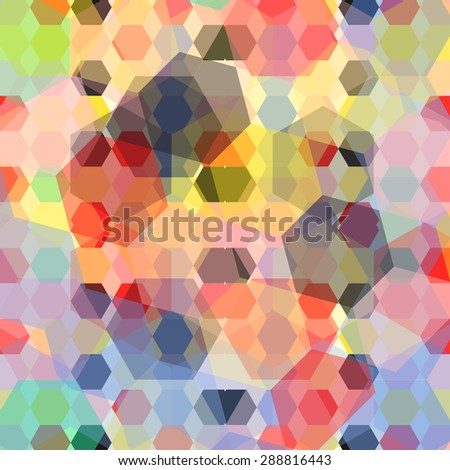 colored geometric background - stock vector