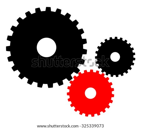 Colored industrial gears vector illustration. Be different concept - stock vector