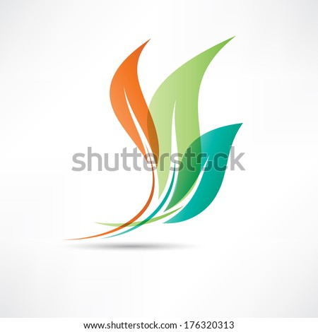 Colored leafs - stock vector