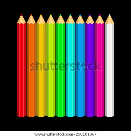 Colored Pencils - stock vector