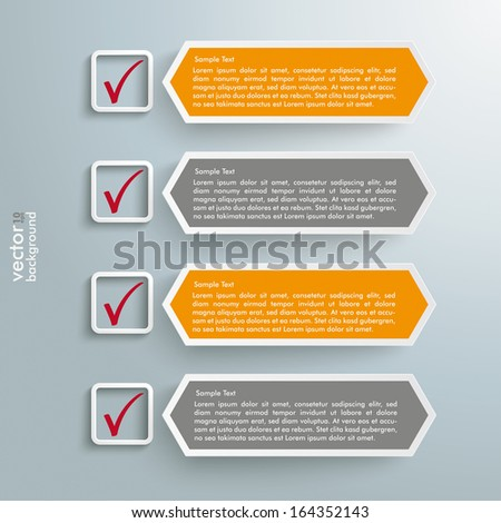 Colored rectangles on the grey background. Eps 10 vector file. - stock vector
