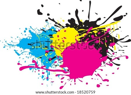 colored stains - stock vector
