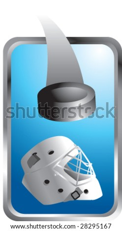 colored tab hockey puck - stock vector