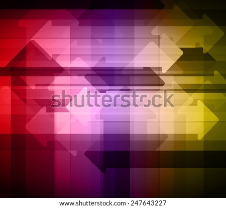 colorful abstract arrows background. Vector illustration. - stock vector
