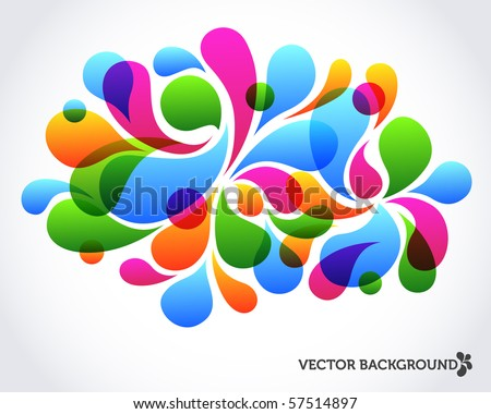 Colorful abstract background design composed of vector shapes - stock vector