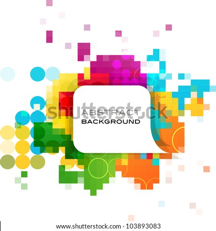 colorful abstract background, vector design - stock vector