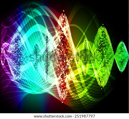 colorful abstract background. wave - stock vector