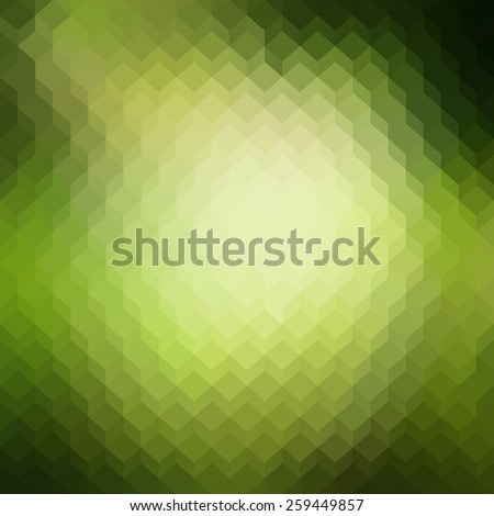 Colorful abstract background with cubes. Forest green bright spring summer texture. Seamless pattern. Vector illustration  - stock vector