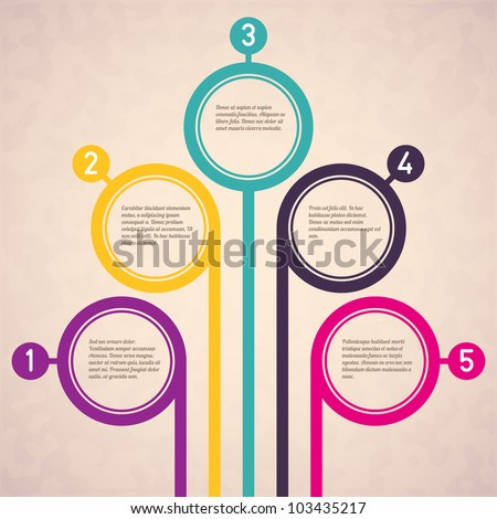 Colorful abstract background with space for text. Vector illustration. - stock vector