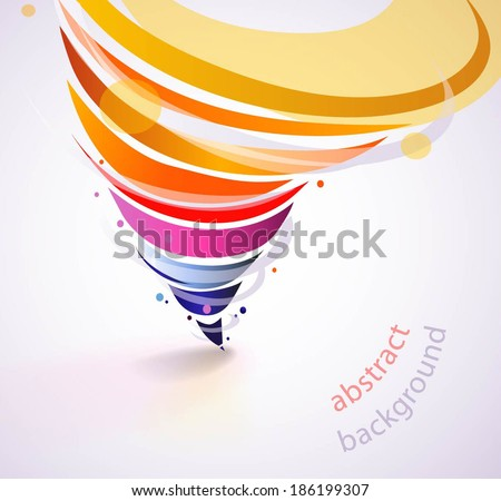 Colorful abstract background with tornado rainbow.  - stock vector