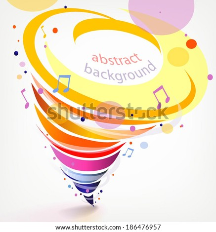 Colorful abstract background with tornado rainbow. Vector illustration - stock vector