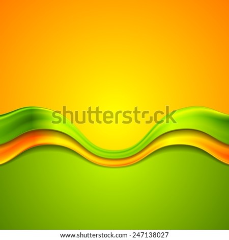 Colorful abstract background with waves. Vector design - stock vector