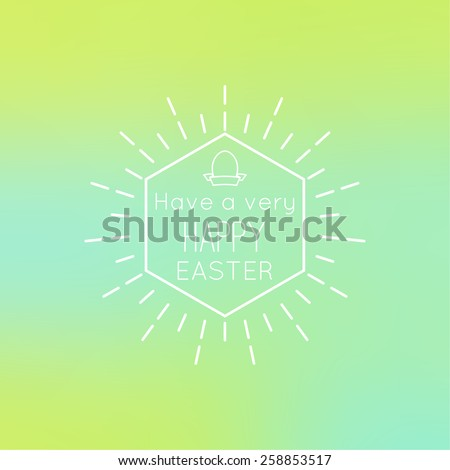 Colorful abstract backgrounds blurred hipster with a geometric symbol and Easter egg. - stock vector