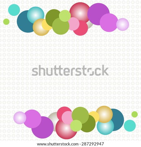 Colorful Abstract Bubbles, Transparent Bubbles Background - stock vector