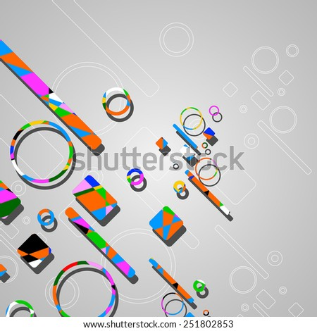 Colorful abstract circles background dynamic illustration. - stock vector