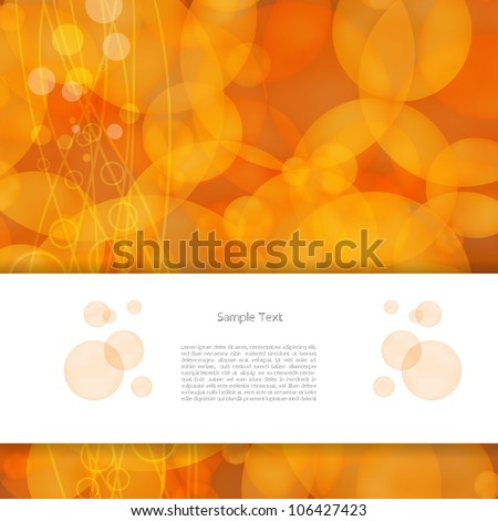 Colorful abstract creative modern vector background with text box and circle pattern - stock vector