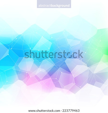 Colorful abstract crystal background. Ice or jewel structure. Green, purple and blue bright colors. - stock vector