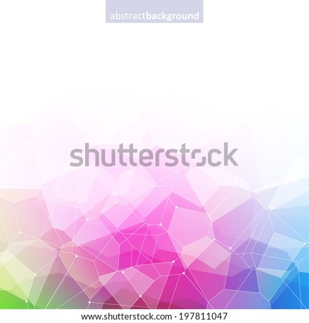 Colorful abstract crystal background. Ice or jewel structure. Pink, green and blue bright colors. - stock vector