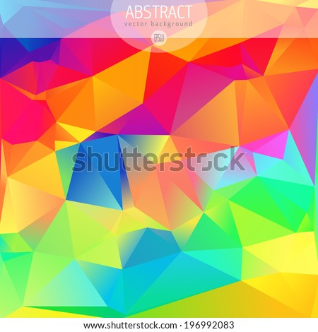 Colorful abstract design template  - stock vector