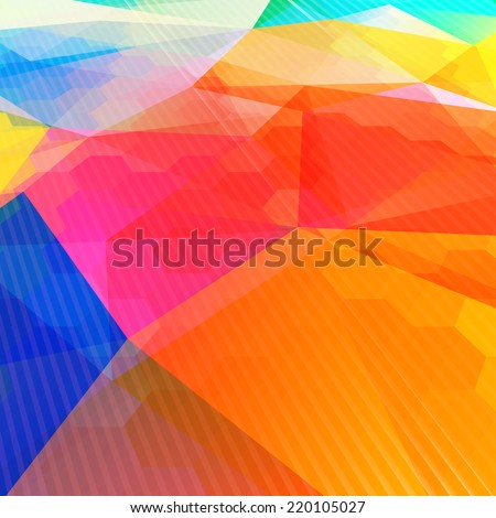 Colorful abstract design template. Colorful abstract background. Abstract background warm texture design - vector illustration  - stock vector