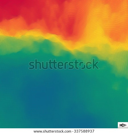 Colorful Abstract Geometric Background. Mosaic. Multicolor Design Template. Perspective Grid Backdrop. Vector Illustration.  - stock vector