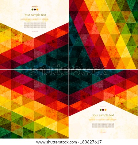 Colorful abstract geometric background with place for your text - stock vector