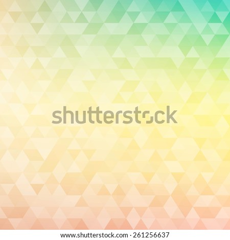 Colorful abstract geometric background with triangular polygons - low poly. Vector illustration. - stock vector