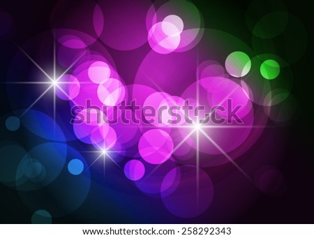 Colorful abstract glowing dot on black background - stock vector