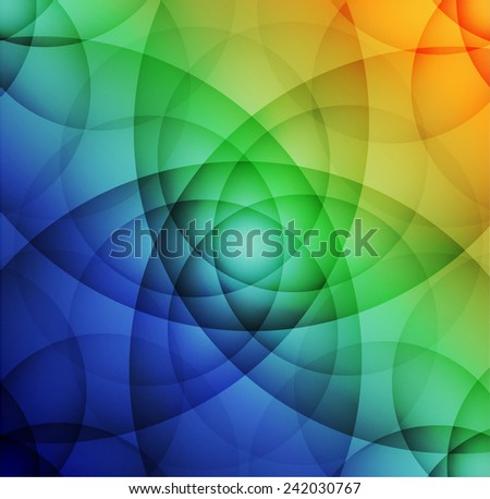 Colorful abstract lotus - stock vector