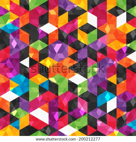 Colorful abstract pattern with geometric shapes. Seamless background. EPS 10 vector illustration. RGB. - stock vector