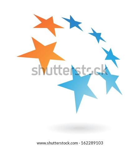 Colorful Abstract Star Icon - stock vector