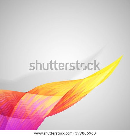 Colorful abstract twisted mosaic element on white background, vector eps 10 illustration - stock vector