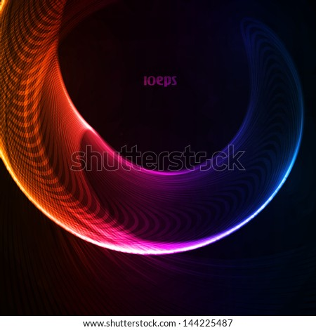 Colorful abstract vector background, futuristic shapes illustration eps10. - stock vector