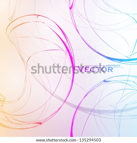 Colorful abstract vector background, futuristic wavy illustration eps10 - stock vector