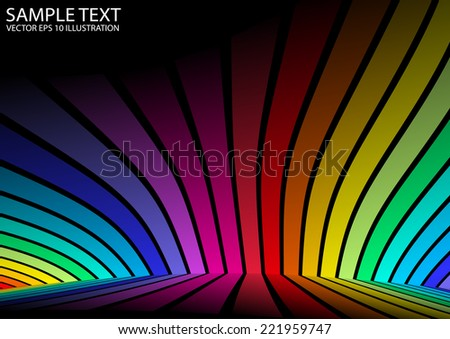 Colorful abstract vector background template - Vector colorful background abstract design illustration - stock vector