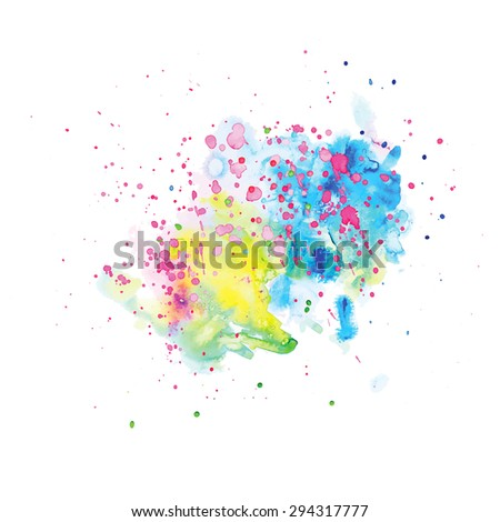 Colorful abstract watercolor background. Vector illustration. - stock vector
