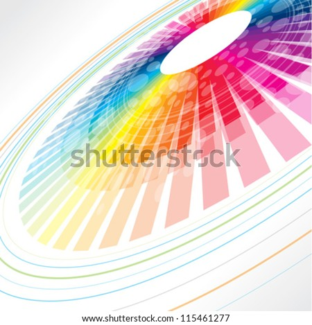 colorful abstract wheel - stock vector