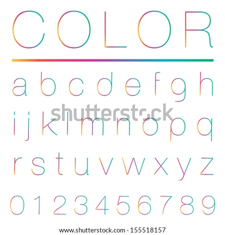 Colorful alphabet(lowercase) , Vector illustration. - stock vector