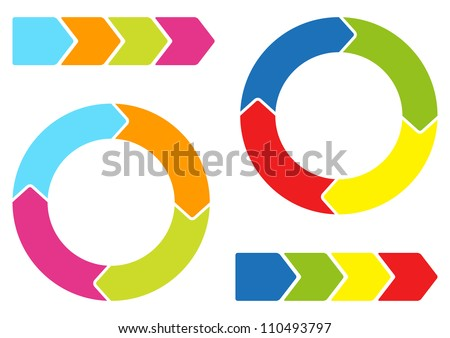 Colorful arrows - stock vector