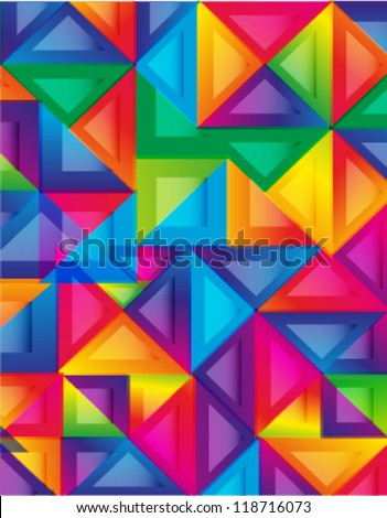 colorful background, cover design - stock vector