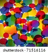 Colorful background made from speech bubbles - stock vector