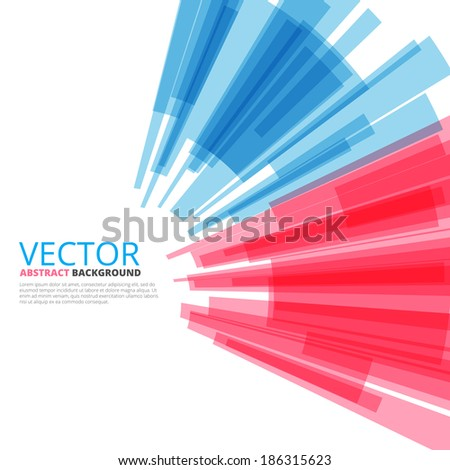 Colorful background red-blue tech design, vector illustration - stock vector