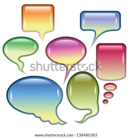 colorful background  with  speech bubbles  for your design - stock vector