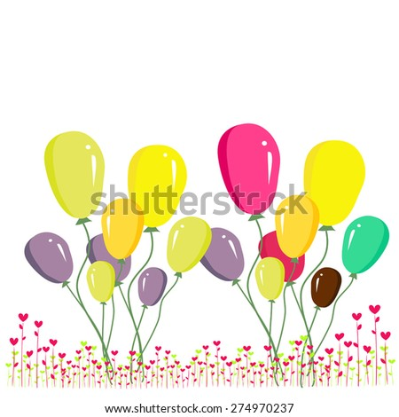 Colorful balloons - stock vector