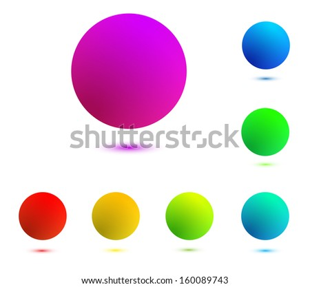 colorful balloons isolated on white background - stock vector