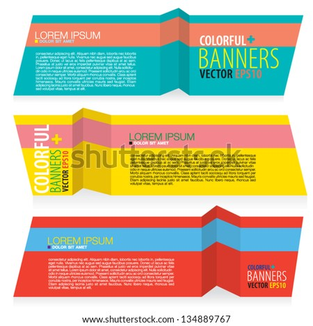 Colorful banners vector.EPS10 - stock vector